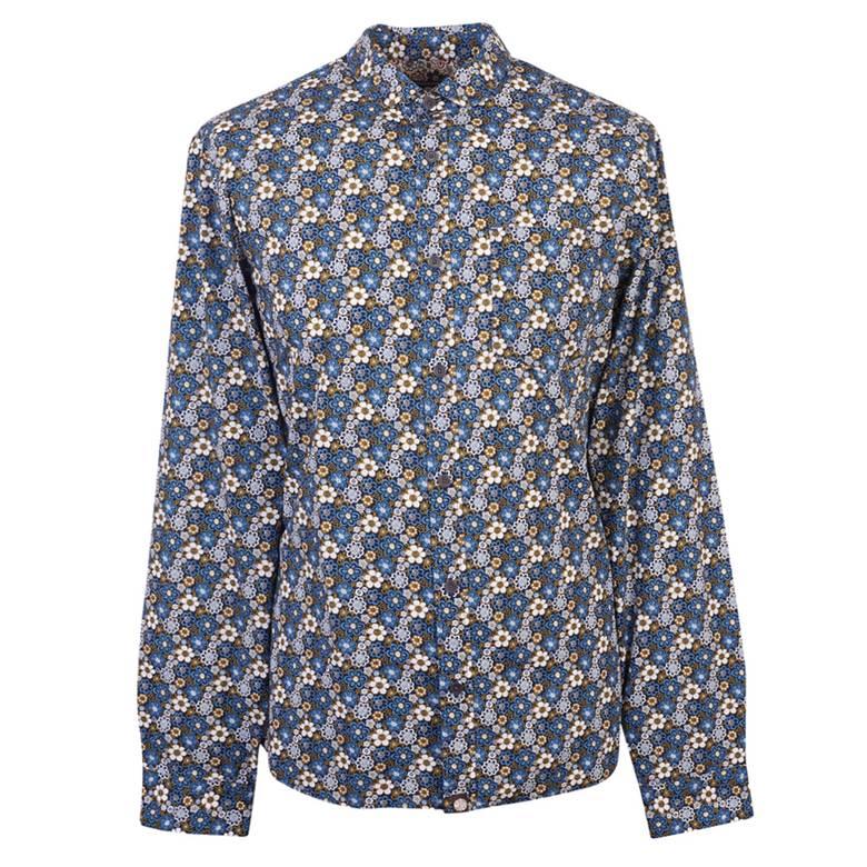 Mens Slim Fit Floral Print Shirt