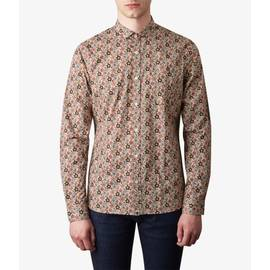 Stone  Slim Fit Floral Print Shirt