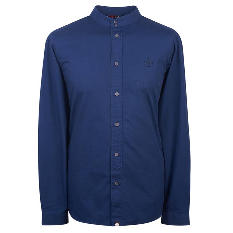 Mens Slim Fit Kaftan Collar Shirt