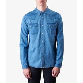 Blue  Slim Fit Denim Shirt