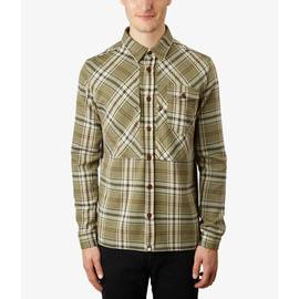 Khaki  Slim Fit Check Shirt