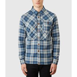 Navy  Slim Fit Check Shirt