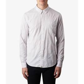 Grey  Slim Fit Floral Jacquard Shirt