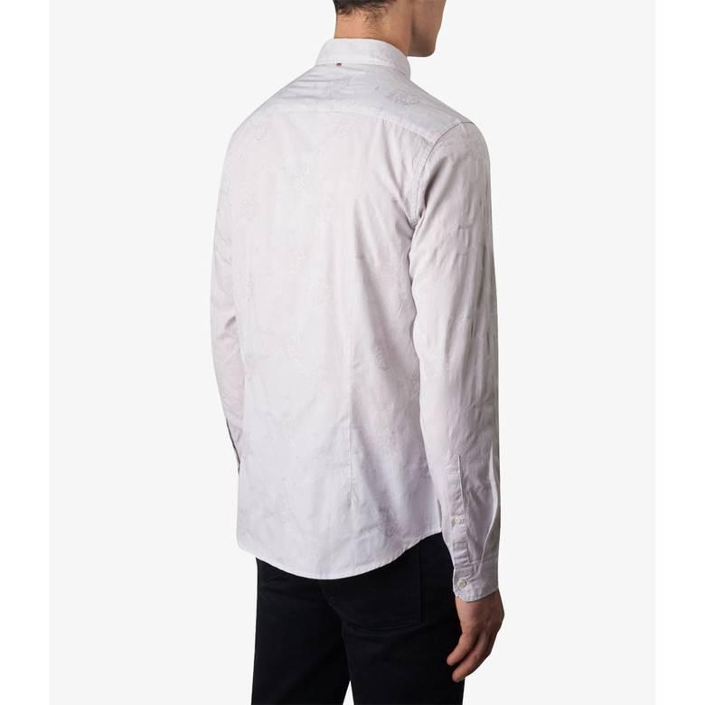 Mens Slim Fit Floral Jacquard Shirt