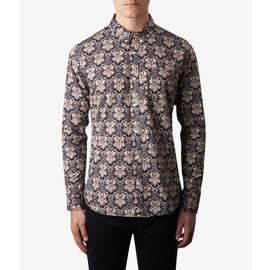 Navy  Slim Fit Abstract Print Shirt