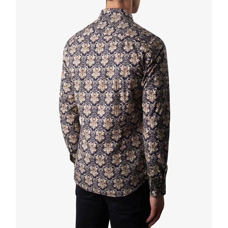 Mens Slim Fit Abstract Print Shirt