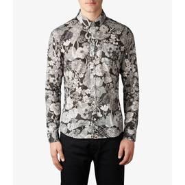 Black  Slim Fit Liberty Print Shirt