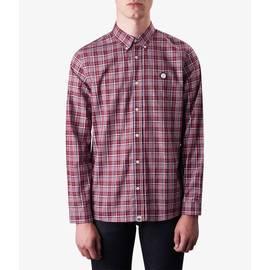 Burgundy  Classic Fit Check Shirt
