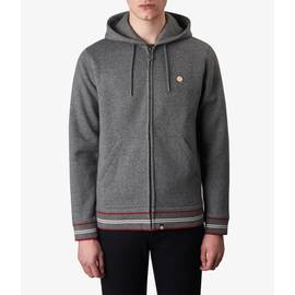 Charcoal Marl  Zip Through Hoody
