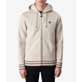 Stone Marl  Zip Through Hoody