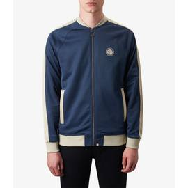 Navy  Contrast Panel Track Top