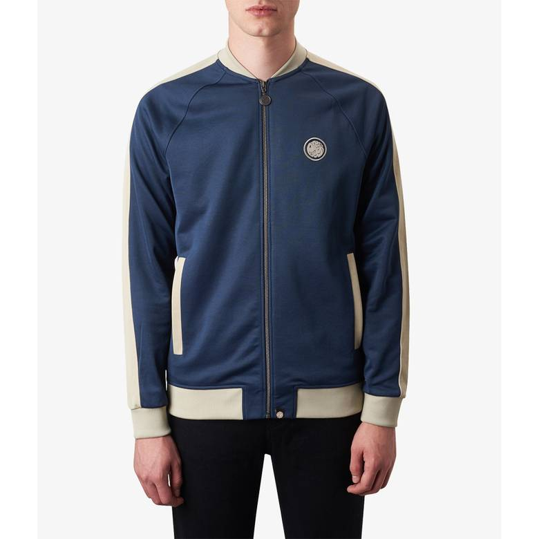 Mens Contrast Panel Track Top