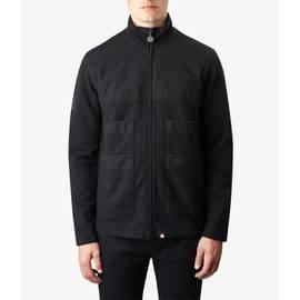 Washed Black  Zip Through  Sweatshirt