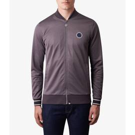 Mid Grey  Contrast Tipped Track Top