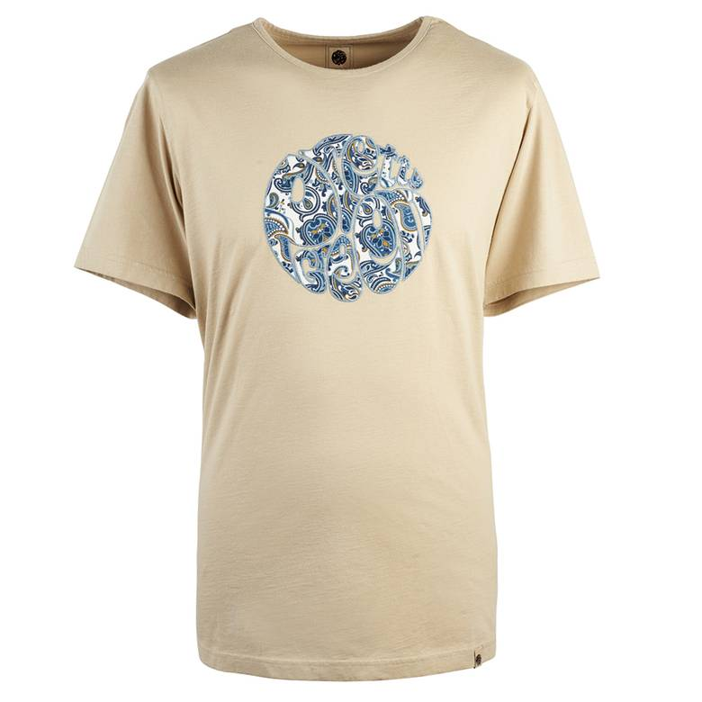 Mens Paisley Applique Logo T -Shirt