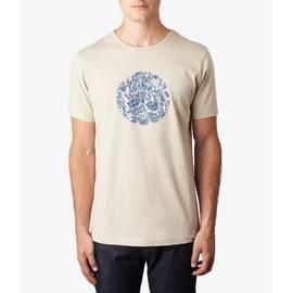 Stone  Paisley Applique Logo T -Shirt