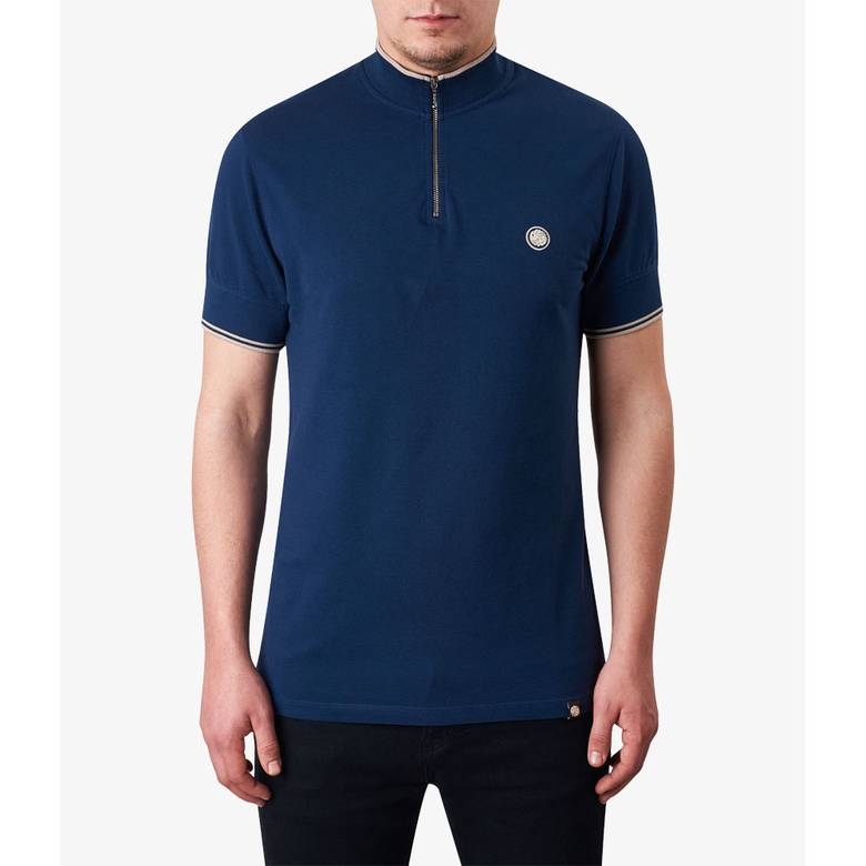 Mens Pique Zip Up T-Shirt