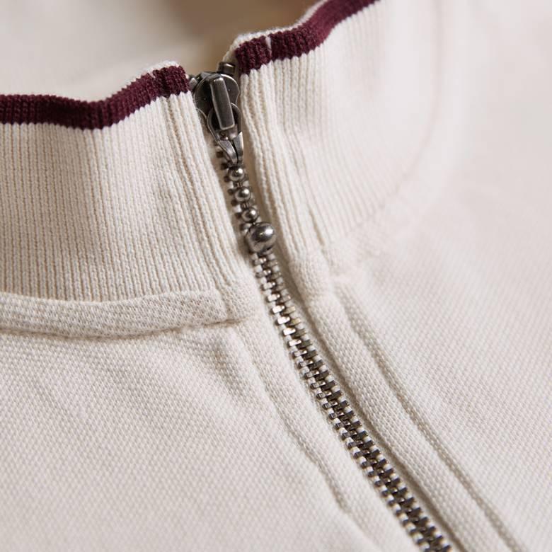 Mens Pique Zip Up T-Shirt