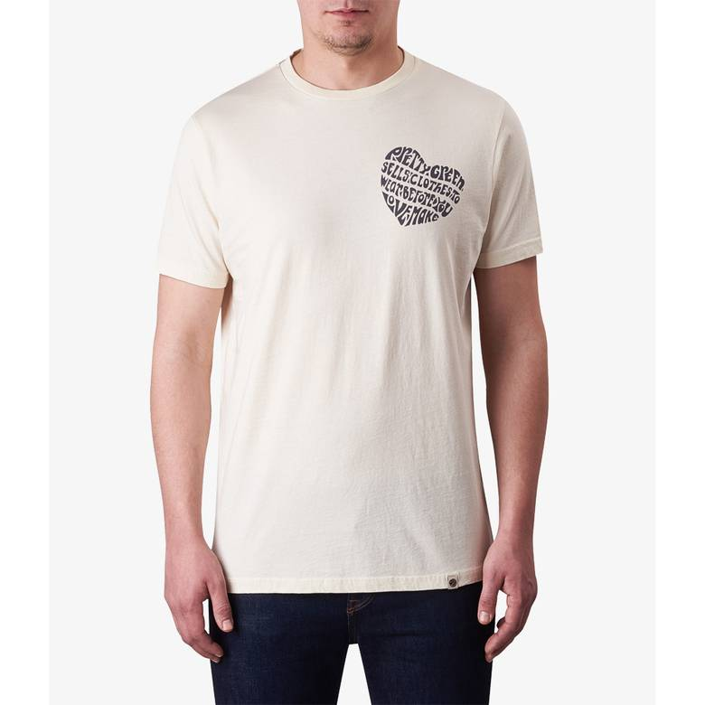 Mens Heart Print T-Shirt