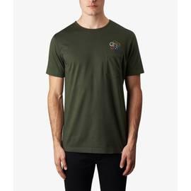 Dark Green  Floral Embriodery T-Shirt