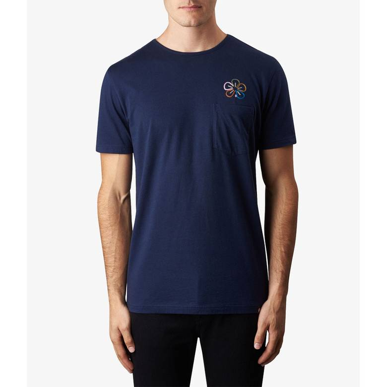 Mens Floral Embriodery T-Shirt