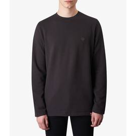 Grey  Long Sleeve Waffle Texture T-Shirt