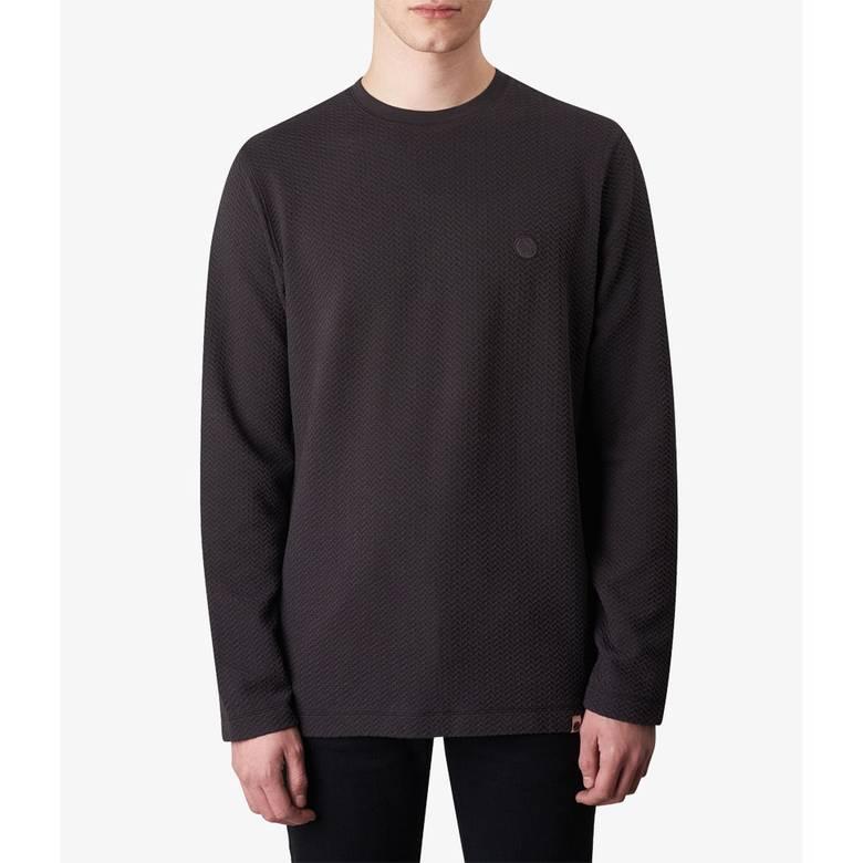 Mens Long Sleeve Waffle Texture T-Shirt