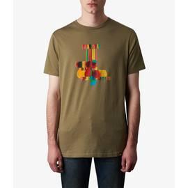Khaki  Pretty Green Print T-Shirt