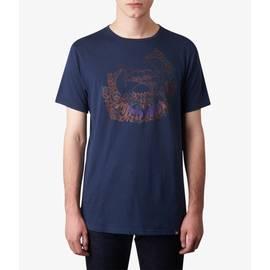 Navy  Drum Print T-Shirt