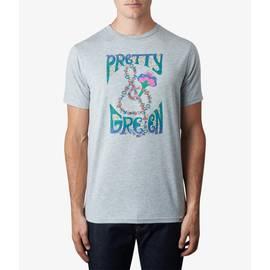 Light Grey Marl  Pretty Green Print T-Shirt