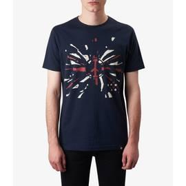 Navy  Peace Print T-Shirt