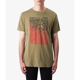 Mid Green  Peace Print T-Shirt