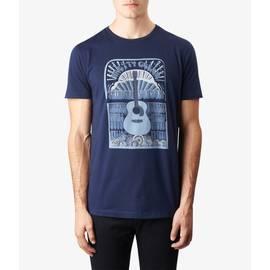 Navy  Guitar Print T-Shirt