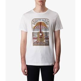 White  Guitar Print T-Shirt