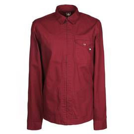 679fc4976a9 Burgundy Slim Fit Zip Front Overshirt