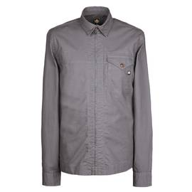 5c2624dbd2f Grey Slim Fit Zip Front Overshirt