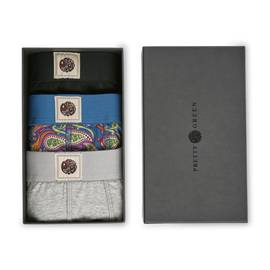 Mens Pretty Green 3 Pack Boxer Shorts Gift Set Multi A9GMU28000264