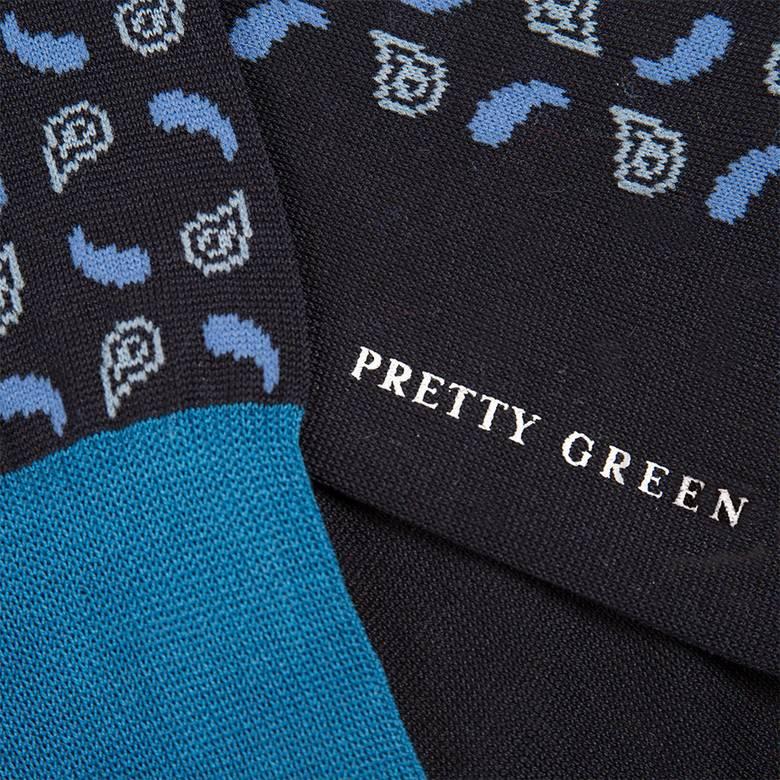 Mens Cotton Paisley Socks