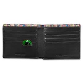 Black  Paisley Embossed Bi-Fold Wallet