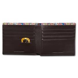 Brown  Paisley Embossed Bi-Fold Wallet