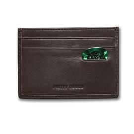 Brown Paisley Embossed Card Holder