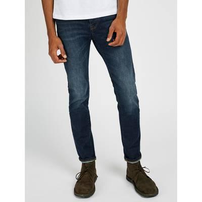 Pretty Green Castlefield Skinny Fit Jeans Rinsed Denim