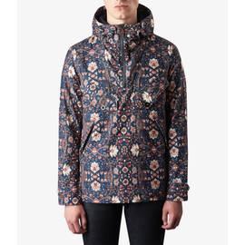 Navy Floral Print Overhead Jacket