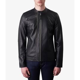 Black  Zip Up Leather Biker Jacket