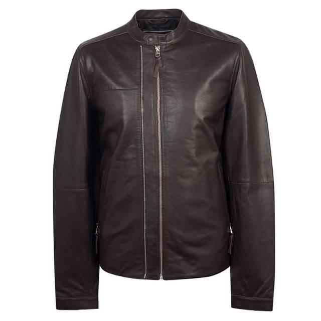 Pretty green leather biker jacket