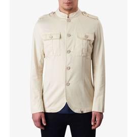 Stone Mandarin Collar Military Jacket