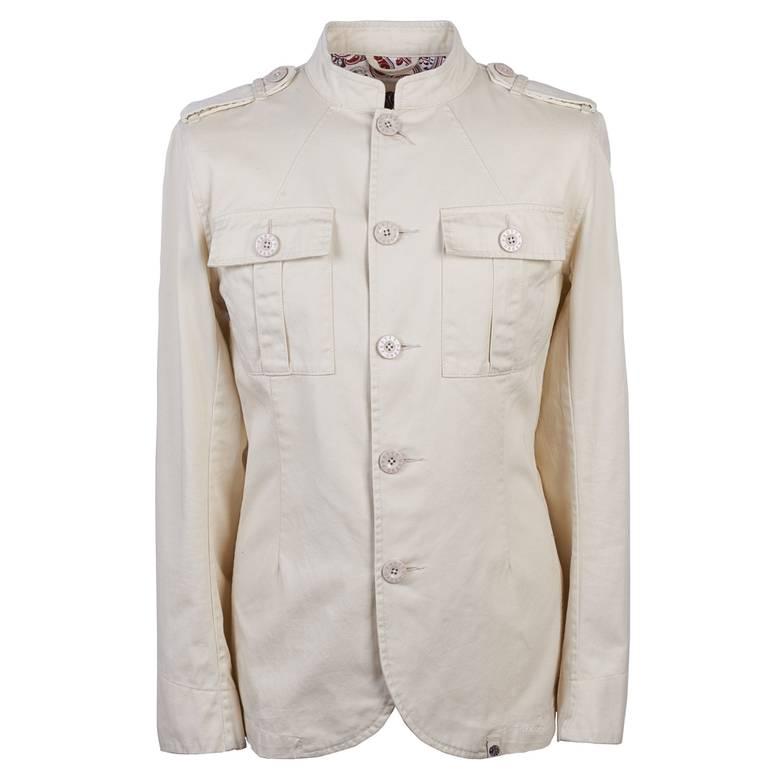 Mens Cotton Button Up Jacket