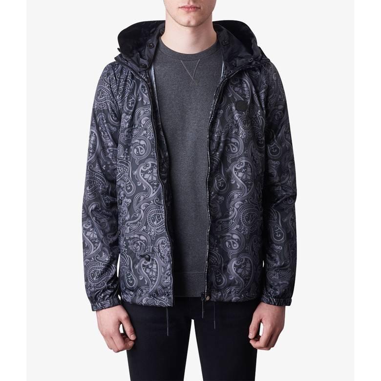 Mens Paisley  Print Hooded Jacket