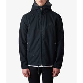 Black  Cotton Zip Up Hooded Jacket