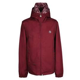 e31c7ff3262 Burgundy Cotton Zip Up Hooded Jacket
